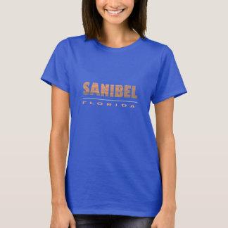Sanibel Island Florida Typographic Design T-Shirt