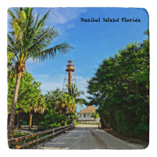 Sanibel Island Lighthouse Florida Gulf Coast Trivets