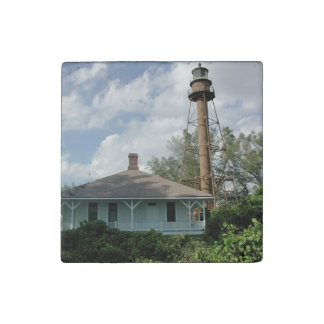 Sanibel Island Lighthouse Florida Stone Magnet