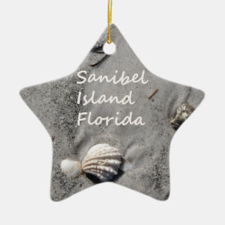 Sanibel Island Sand Shells Ceramic Ornament