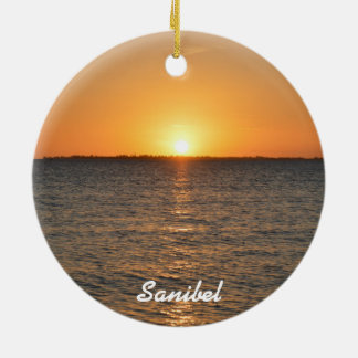 Sanibel Island Sunset Christmas Ornament