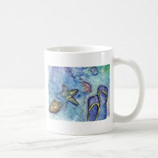 Sanibel Sandals watercolor Coffee Mug