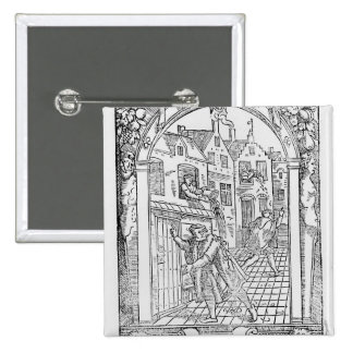 Sanitation in the Middle Ages Pinback Button