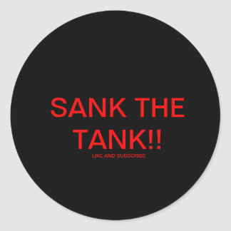 SANK THE TANK sticker