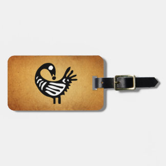 Sankofa Luggage Tag ~ Parchment/Black and White