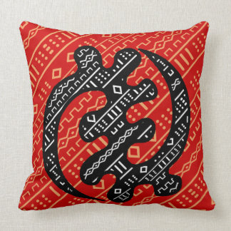 Sankofa Red Throw Pillow