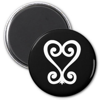 Sankofa | Return and get it - Adinkra Symbol 6 Cm Round Magnet