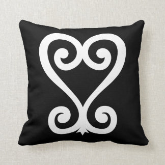 Sankofa | Return and get it - Adinkra Symbol Throw Pillow