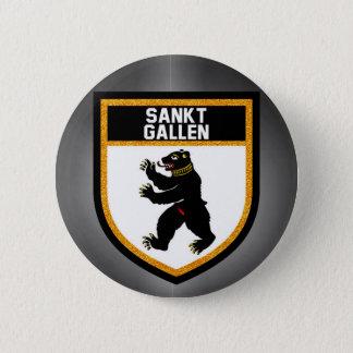 Sankt Gallen Flag 6 Cm Round Badge