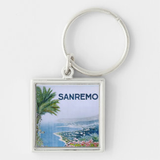 Sanremo, Italy Premium Square Keychain