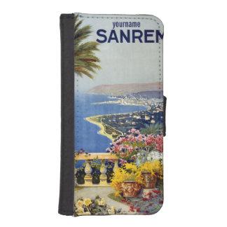 Sanremo Italy vintage travel custom phone wallets