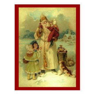 Santa 1897 Vintage Victorian Christmas Postcard
