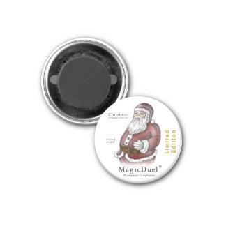 Santa 3 Cm Round Magnet