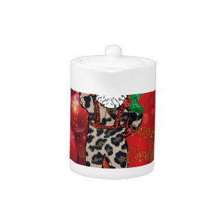 santa african leopard claus red