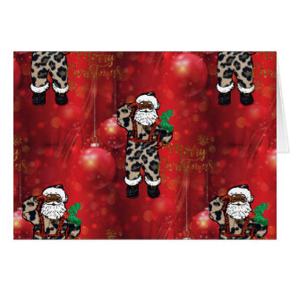 santa african leopard claus red card