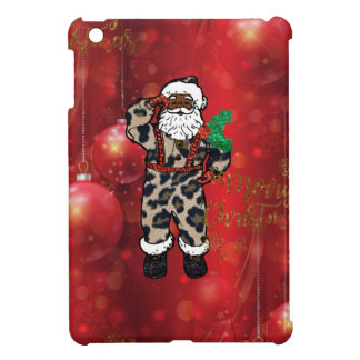 santa african leopard claus red case for the iPad mini