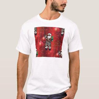 santa african leopard claus red T-Shirt