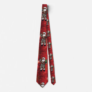 santa african leopard claus red tie