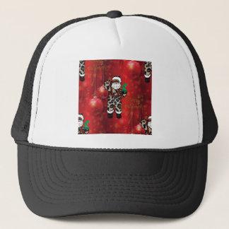 santa african leopard claus red trucker hat