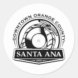 Santa Ana Funk Classic Round Sticker