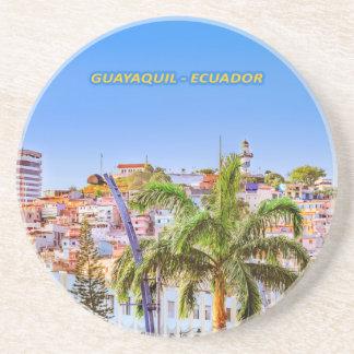 Santa Ana Hill, Guayaquil Poster Print Coaster