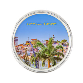Santa Ana Hill, Guayaquil Poster Print Lapel Pin