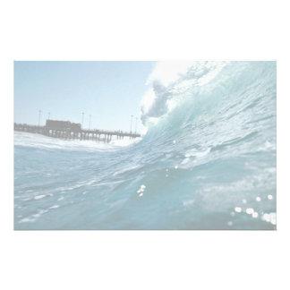 Santa Ana winds sculpt ocean waves Stationery Design