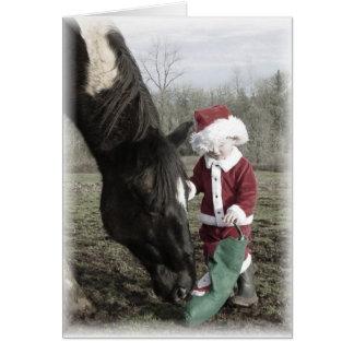 """Santa and Cash"" Christmas Card"