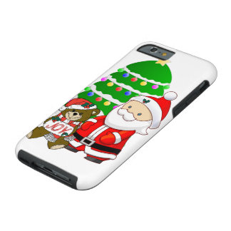 Santa And Christmas Bear Tough iPhone 6 Case