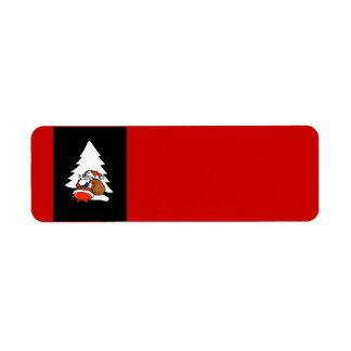 Santa And Christmas Tree Christmas Label Return Address Label