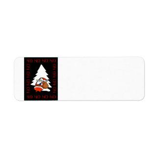 Santa And Christmas Tree Ho Ho Ho Ho Christmas Ave Return Address Label