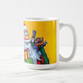 Santa and Christmas Tree Coffee Mug