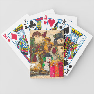 SANTA AND FRIENDS BICYCLE PLAYING CARDS
