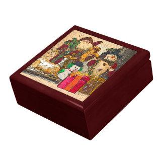 SANTA AND FRIENDS GIFT BOX