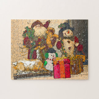 SANTA AND FRIENDS JIGSAW PUZZLE
