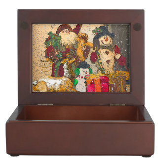 SANTA AND FRIENDS KEEPSAKE BOX
