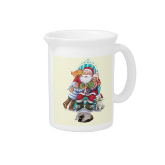 Santa and Friends Pitcher