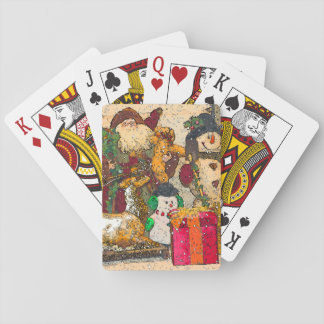 SANTA AND FRIENDS PLAYING CARDS