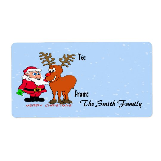 Santa and Gift Tag (large)