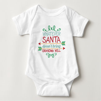 Santa and Grandma word art baby unisex bodysuit
