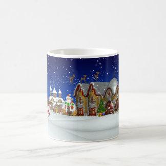 Santa And His North Pole Town, Christmas Mug