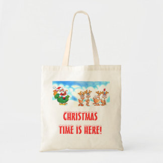 Santa And His Reindeer Christmas shopping or gift Bags