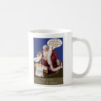 Santa and Jesus Make a Deal Basic White Mug