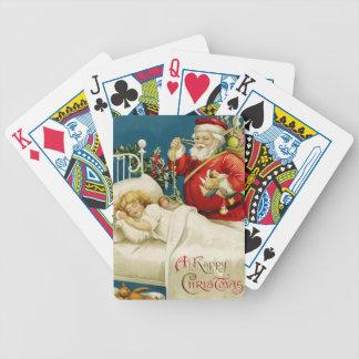 Santa and Little Sleeping Girl Poker Deck