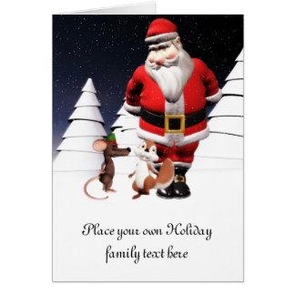 Santa and mouse Christmas Card