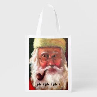 Santa and Mrs. Claus Shopping Bag