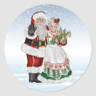 Santa and Mrs. Claus Sticker