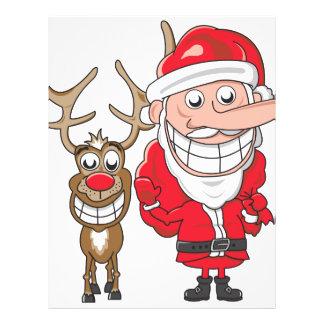 Santa and Reindeer 21.5 Cm X 28 Cm Flyer