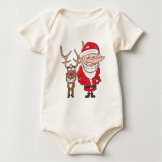 Santa and Reindeer Baby Bodysuit