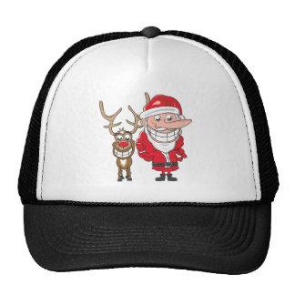 Santa and Reindeer Cap